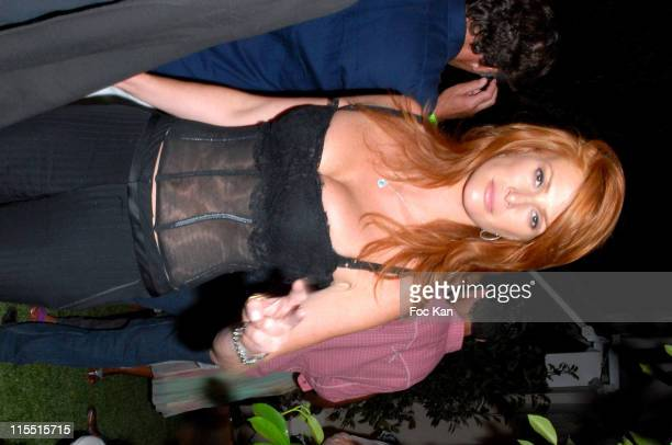 Angie EverHart during 'Unforgivable' Fragrance Dinner Arrivals at RM Elegance Yacht in St Tropez France