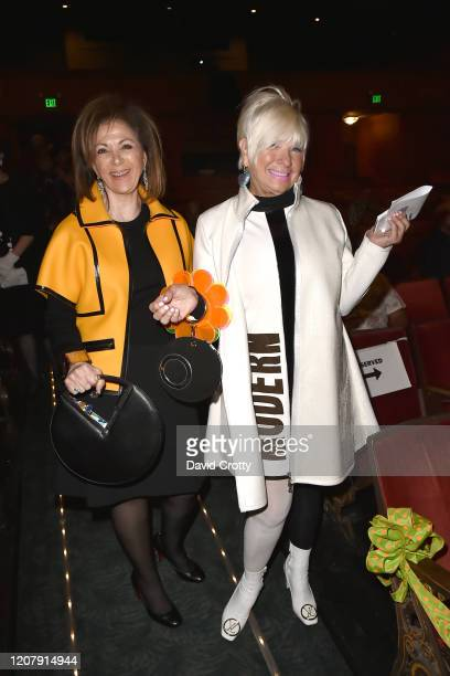 Angie Gerber and Shari Applebaum attend the House Of Cardin Special Screening At Palm Springs Modernism Week at The Plaza Theater on February 21 2020...