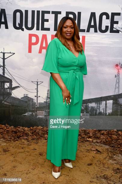 Angie Greaves attends 'A Quiet Place Part II' screening at Cineworld Leicester Square on May 20, 2021 in London, England.