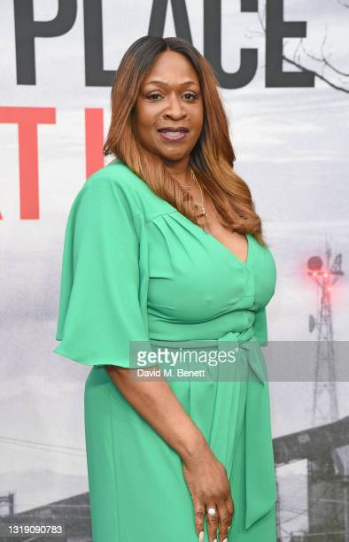 """Angie Greaves attends a special screening of """"A Quiet Place Part II"""" at Cineworld Leicester Square on May 20, 2021 in London, England."""