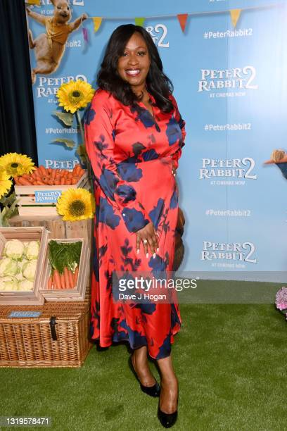 """Angie Greaves attends the """"Peter Rabbit 2"""" UK Gala Screening at Picturehouse Central on May 23, 2021 in London, England."""