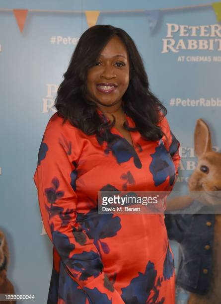 """Angie Greaves attends the UK Gala Screening of """"Peter Rabbit 2: The Runaway"""" at Picturehouse Central on May 23, 2021 in London, England."""