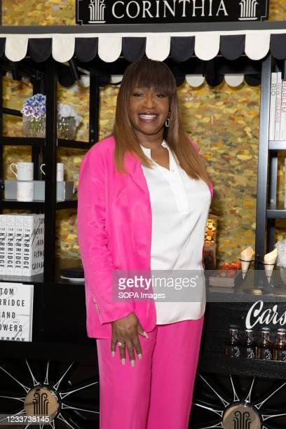 Angie Greaves hosts afternoon tea at Corinthia Hotel London in aid of Breast Cancer Now.