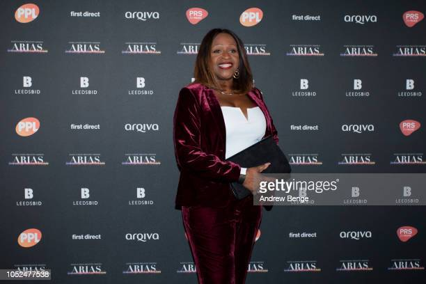 Angie Green attends the Audio and Radio Industry Awards at First Direct Arena Leeds on October 18 2018 in Leeds England