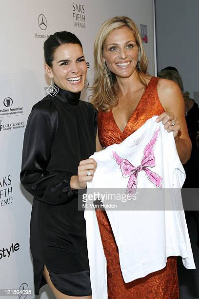Angie Harmon and Jamie Tisch during Saks Fifth Avenue and InStyle Magazine Host an Exclusive Launch Event for Key to the Cure in Partnership with...