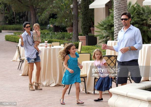 Angie Harmon and Jason Sehorn are seen at Resort at Pelican Hill on July 3 2010 in Newport Beach California