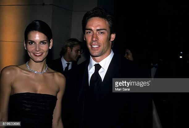Angie Harmon and Jason Sehorn at the Metropolitan Museum's Costume Institute gala exhibition New York New York April 23 2001