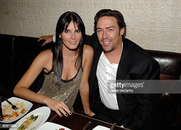 Angie Harmon and Jason Sehorn attend the Grand Opening Of Lavo Restaurant And Nightclub At The Palazzo hotel in Las Vegas on September 132008