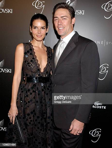 Angie Harmon and Jason Sehorn during 8th Annual Costume Designers Guild Awards Gala Arrivals at Beverly Hilton Hotel in Beverly Hills California...