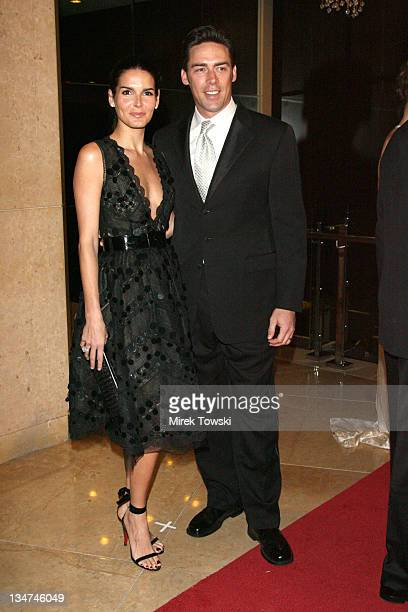Angie Harmon and Jason Sehorn during 8th Annual Costume Designers Guild Awards Gala at Beverly Hilton Hotel in Beverly Hills California United States