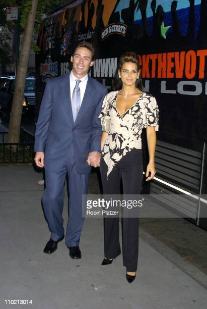 Angie Harmon and Jason Sehorn during FCUK I'm Voting Party at the GOP Convention at French Connection Soho in New York City New York United States