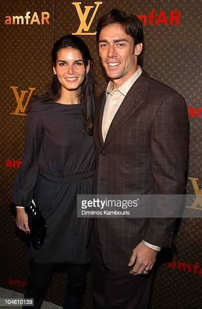 Angie Harmon and Jason Sehorn during Louis Vuitton Celebrates the Debut of Tambour the New watch Line at Capitale in New York City New York United...
