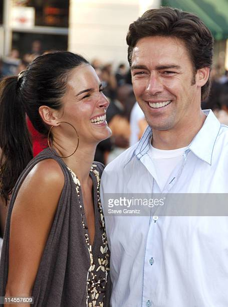 Angie Harmon and Jason Sehorn during 'Miami Vice' Los Angeles Premiere Arrivals at Mann Village in Westwood California United States