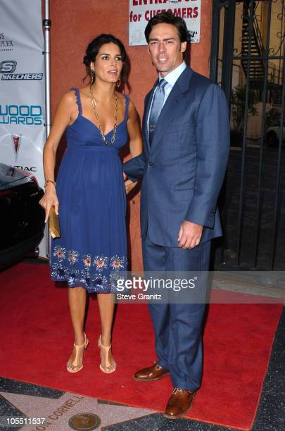 Angie Harmon and Jason Sehorn during Movieline's Hollywood Life 7th Annual Young Hollywood Awards Arrivals at Music Box at The Fonda in Hollywood...