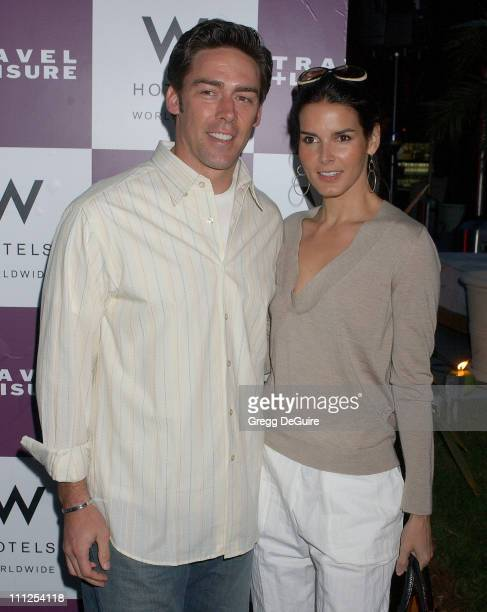 Angie Harmon and Jason Sehorn during Travel Leisure Magazine Celebrates 35th Birthday Arrivals at W Hotel Los Angeles in Westwood California United...