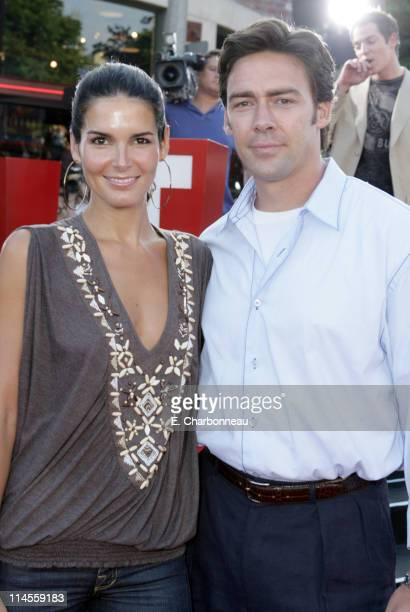 Angie Harmon and Jason Sehorn during Universal Pictures Presents the World Premiere of Miami Vice at Mann Village Theater in Westwood California...