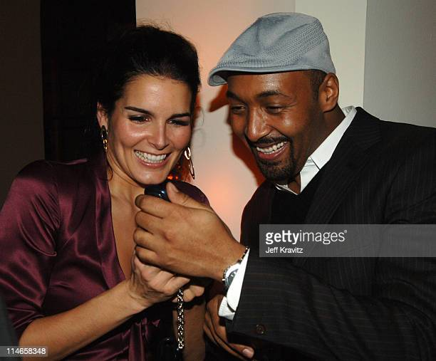 Angie Harmon and Jesse L Martin during HBO's Annual PreGolden Globes Private Reception at Chateau Marmont in Los Angeles California United States