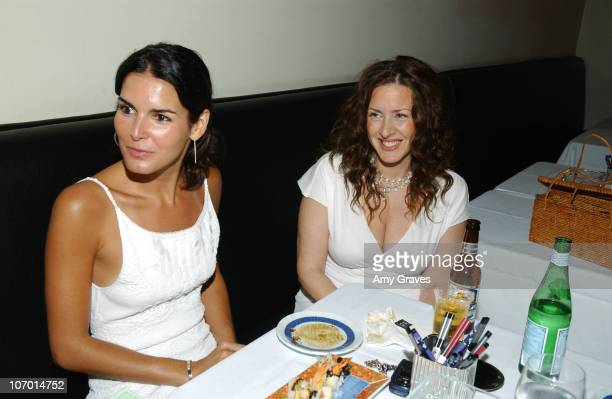 Angie Harmon and Joely Fisher during Allure and Linda Wells's Summer Cocktail Party at Hamasaku Restaurant in Los Angeles, California, United States.
