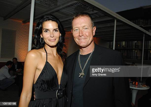 Angie Harmon and Robert Patric attend the Producers and Stars Toast Party Hosted by Dana Walden and Gary Newman on July 18 2007 in Beverly Hills...