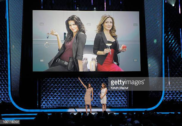 Angie Harmon and Sasha Alexander speak at the TEN Upfront presentation at Hammerstein Ballroom on May 19 2010 in New York City 19688_001_0927JPG
