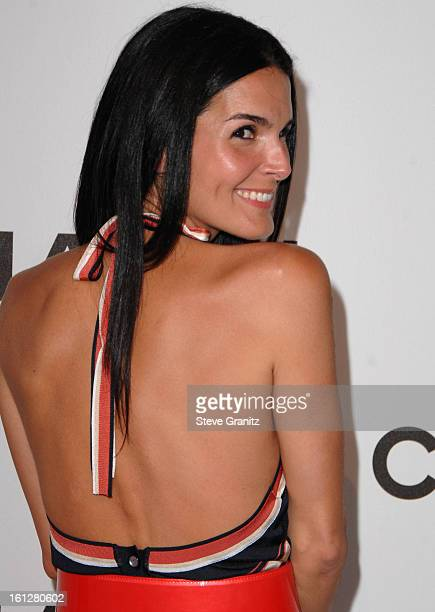Angie Harmon arrives at Chanel's Launch of Highly Anticipated New Concept Boutique on Robertson Boulevard on May 29 2008 in Los Angeles California