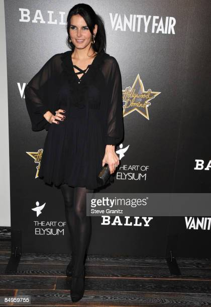 Angie Harmon arrives at the 'Hollywood Domino' game night presented by Vanity Fair and Bally to benefit The Art of Elysium at Andaz on February 20,...