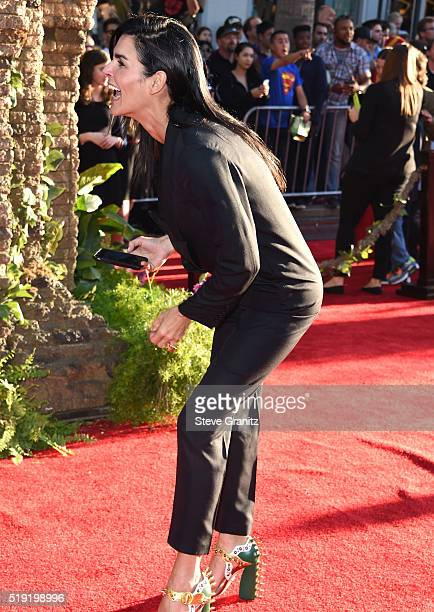 Angie Harmon arrives at the Premiere Of Disney's The Jungle Book at the El Capitan Theatre on April 4 2016 in Hollywood California