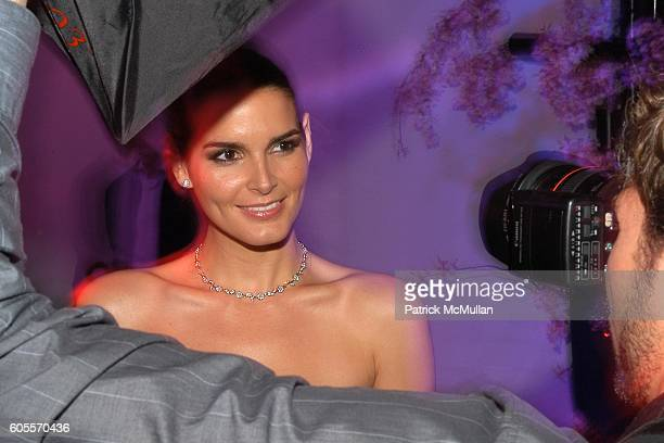 Angie Harmon attends SWAROVSKI hosts a party to present their POETIC NIGHT Collection at The Rink at Rockefeller Center on May 3 2006 in New York City