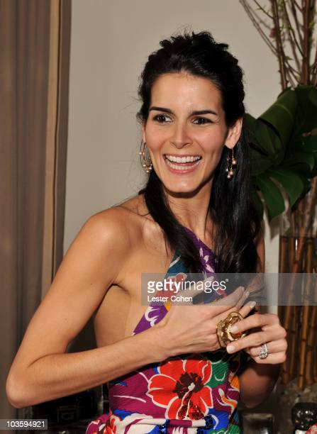 Angie Harmon attends the Kara Ross NY Oscar Collection Cocktail Party at the Sunset Tower Hotel on February 21 2008 in Los Angeles California