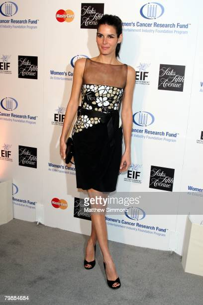 Angie Harmon attends the Saks Fifth Avenue Unforgettable Evening at the Beverly Wilshire Hotel on February 20, 2008 in Beverly Hills, California.