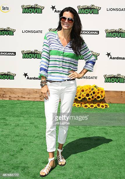 Angie Harmon attends the screening of Lionsgate's Shaun the Sheep Movie at the Regency Village Theatre on August 1 2015 in Westwood California