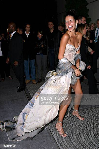 Angie Harmon during 2002 VH1 Vogue Fashion Awards AfterParty at Hudson Cafeteria at Hudson Hotel in New York New York United States