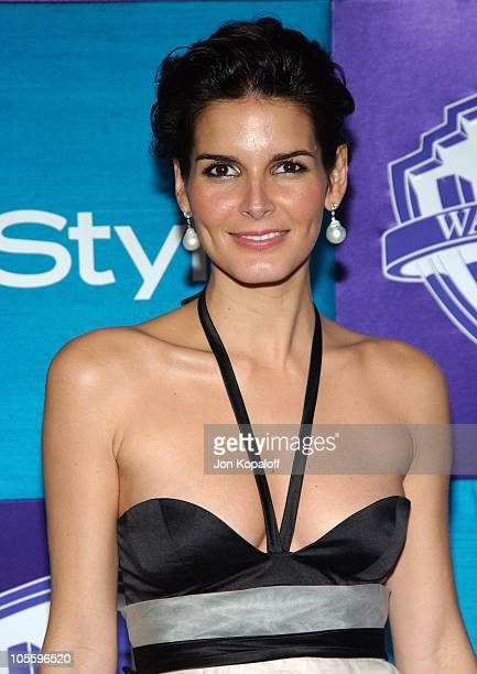 Angie Harmon during 2005 InStyle/Warner Bros. Golden Globes Afterparty - Arrivals at Beverly Hills Hilton in Beverly Hills, California, United States.