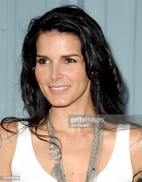 Angie Harmon during 2007/2008 Chanel Cruise Show Presented by Karl Lagerfeld at Hangar 8 in Santa Monica California United States