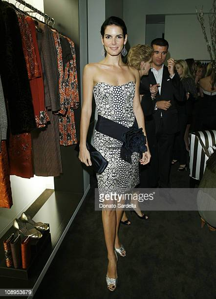 Angie Harmon during Carolina Herrera and Vogue Magazine store Opening on Melrose Place to Benefit Couture Cares for The Revlon UCLA Breast Cancer at...