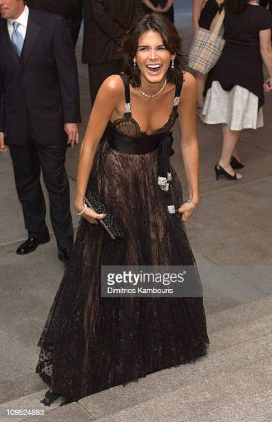 Angie Harmon during Costume Institute Benefit Dance Party of the Year Arrivals at Metropolitan Museum of Art in New York City New York United States