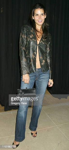 "Angie Harmon during Donna Karan ""Black Cashmere"" Launch in New York City, New York, United States."