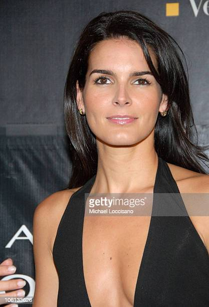 "Angie Harmon during Donna Karan ""Gold"" Fragrance Collection Launch at Donna Karan Flagship on Madison in New York City, New York, United States."