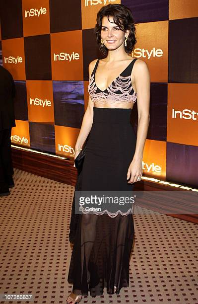 Angie Harmon during InStyle Magazine Hosts Fourth Annual PostGolden Globes Party to Honor Hollywood's Elite Arrivals at The Beverly Hilton Hotel in...
