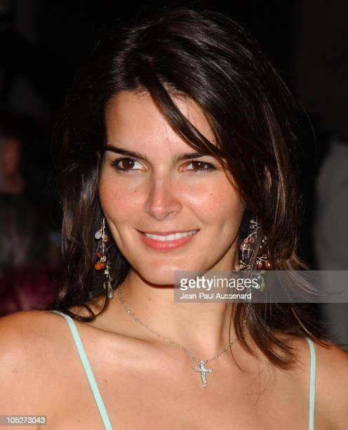 Angie Harmon during Mercedes-Benz Fall 2004 Fashion Week at Smashbox Studios - Day 3 - Arrivals at Smashbox Studios in Culver City, California,...