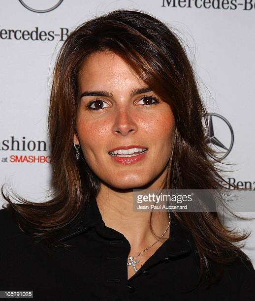 Angie Harmon during Mercedes-Benz Fall 2004 Fashion Week at Smashbox Studios - Day 5 - Arrivals at Smashbox Studios in Culver City, California,...