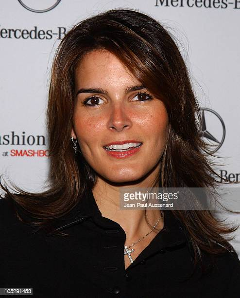 Angie Harmon during MercedesBenz Fall 2004 Fashion Week at Smashbox Studios Day 5 Arrivals at Smashbox Studios in Culver City California United States