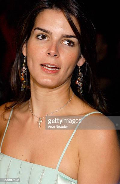 Angie Harmon during Mercedes-Benz Fall 2004 Fashion Week at Smashbox Studios - Sheri Bodell - Front Row and Backstage at Smashbox Studios in Culver...