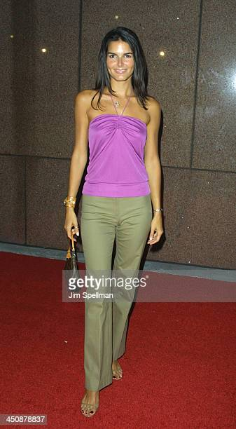 Angie Harmon during Michael Jackson's 30th Anniversary Celebration Arrivals at Madison Square Garden in New York New York United States
