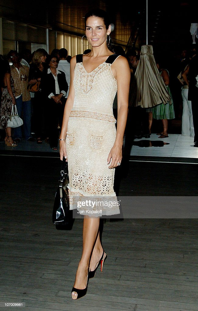 Angie Harmon during Prada Celebrates the Los Angeles Opening of 'Waist Down - Skirts By Miuccia Prada' in Beverly Hills, California, United States.