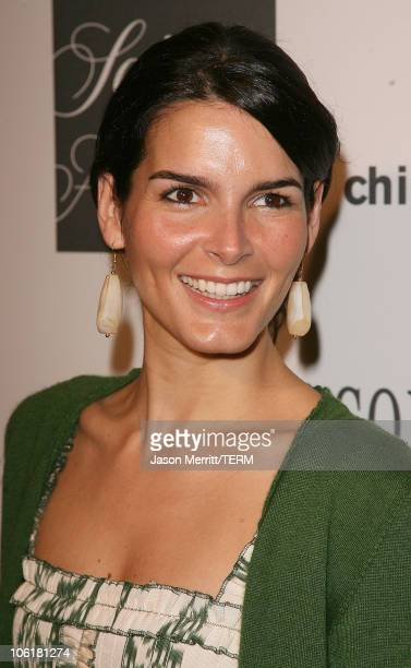Angie Harmon during Saks Fifth Avenue and ColleaguesI Annual Spring Luncheon Arrivals at Beverly Wilshire Hotel in Beverly Hills California United...