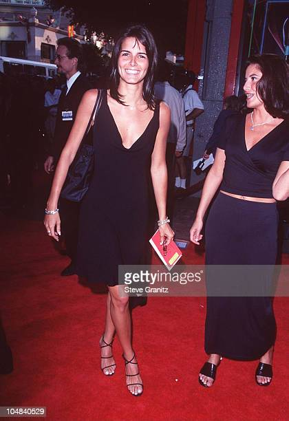"""Angie Harmon during """"Spawn"""" Los Angeles Premiere at Mann Chinese Theatre in Los Angeles, California, United States."""