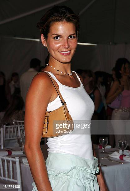 Angie Harmon during The Coach Luncheon to Benefit Peace Games at the Home of Quincy Jones at Quincy Jones' House in Beverly Hills California United...