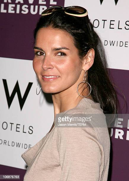 Angie Harmon during Travel Leisure Magazine Celebrates 35th Birthday at W Hotel in Los Angeles Arrivals at W Hotel Los Angeles in Westwood California...
