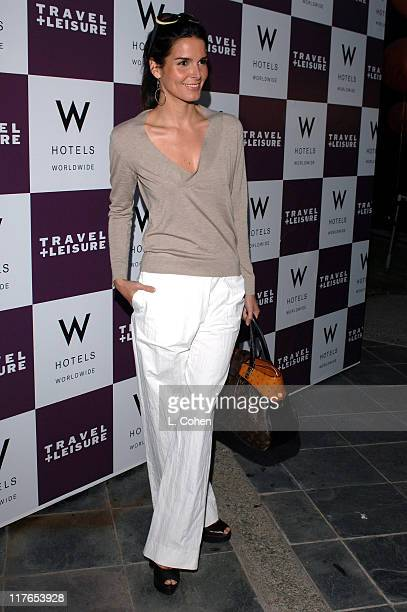 Angie Harmon during Travel Leisure Magazine Celebrates 35th Birthday Red Carpet at W Hotel in Los Angeles California United States